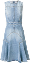 Alexander McQueen denim A-line dress