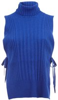 Maison Margiela tie ribbed tank top - women - Polyamide/Viscose/Cashmere/Wool - L