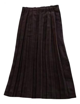 Issey Miyake Brown Polyester Skirts