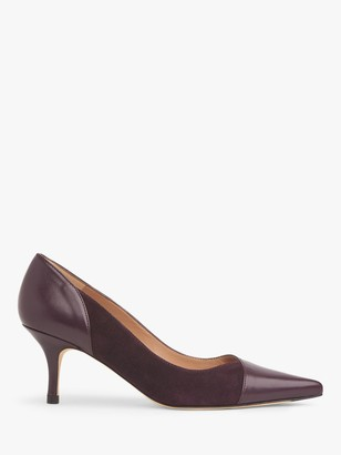 LK Bennett Fleur Leather Court Shoes