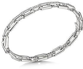 David Yurman Sterling Silver Stax Link Bracelet with Diamonds