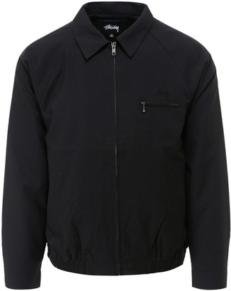 Stussy Logo Embroidered Collared Jacket