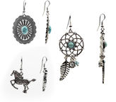Arizona Horse Dreamcatcher Stone Earrings
