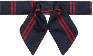 Unbranded Chigwell School Hanovers House Bow Tie, Navy/Red