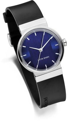 Jacob Jensen Unisex-Adult Analogue Quartz Watch with Rubber Strap JJ749