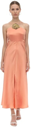 Rixo Embellished Silk Blend Jacquard Dress