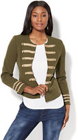New York & Co. Military-Style Jacket - Olive