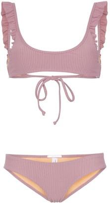 Made by Dawn petal frill trimmed bikini