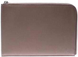 Louis Vuitton Taupe Leather Jules PM Pochette