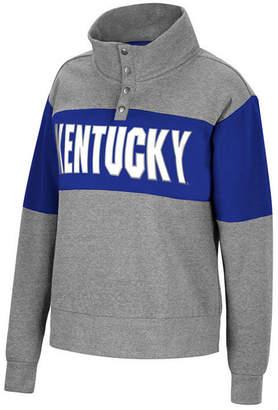 Top of the World Women Kentucky Wildcats Colorblock Half-Snap Sweatshirt