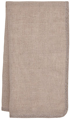Set of 4 Milano Dinner Napkins - Taupe/Silver - Mode Living