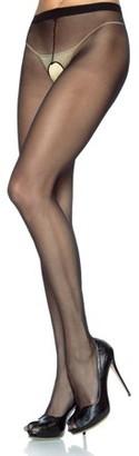 Leg Avenue Women's Crotchless Pantyhose, Black, One Size