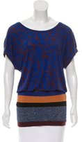 M Missoni Abstract Print Short Sleeve Tunic