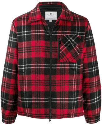 Woolrich Plaid Zipped Jacket