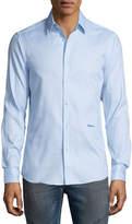 Just Cavalli Button-Front Dress Shirt, Light Blue