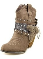Not Rated Stash Women Round Toe Synthetic Brown Ankle Boot.
