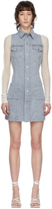 Helmut Lang Grey Denim Shirt Dress
