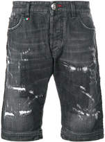 Philipp Plein distressed shorts