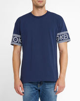 Kenzo Navy Logo Sleeves Round-Neck T-Shirt