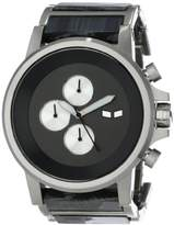 Vestal Men's PLA021 Plexi Acetate Silver Grey Gunmetal Watch