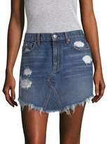 7 For All Mankind Distressed Denim Skirt