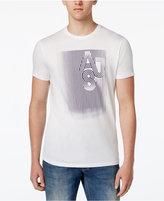 Armani Jeans Men's 81 Striped Logo T-Shirt