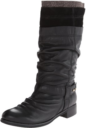 All Black Women's Layered Boot 2