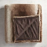 Pier 1 Imports Ombre Faux Fur Sable Throw