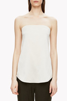 Theory Satin Strapless Top