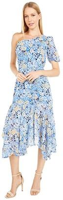 ASTR the Label Santorini Dress (Navy/Blue Floral Print) Women's Dress