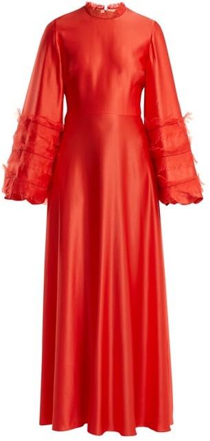 Roksanda Kamau Silk Dress - Red