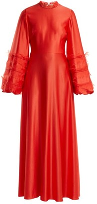 Roksanda Kamau Silk Dress - Womens - Red