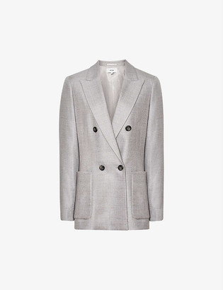 Reiss Finn double-breasted wool-blend blazer