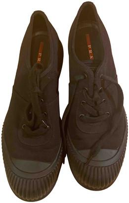 Prada Black Cloth Trainers