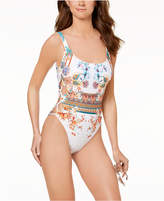 Kenneth Cole Tahiti Tummy-Control Cutout One-Piece Swimsuit Women's Swimsuit