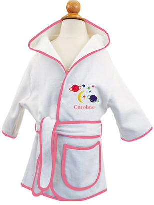 Cece Dupraz Kid's Terry Planets Hooded Cover-Up Robe, Personalized