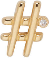 Marc Jacobs Gold Hashtag Earring