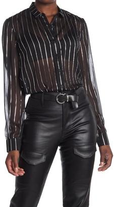Rta Denim Blythe Striped Dress Shirt