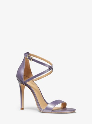 MICHAEL Michael Kors Antonia Pearlized Leather Sandal