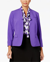 Nine West Taylor Stretch Clasp-Front Jacket