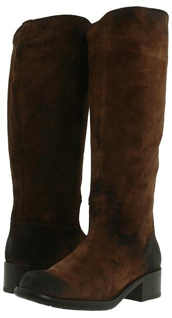 Frye Elena Pull On (Dark Brown Suede) - Footwear