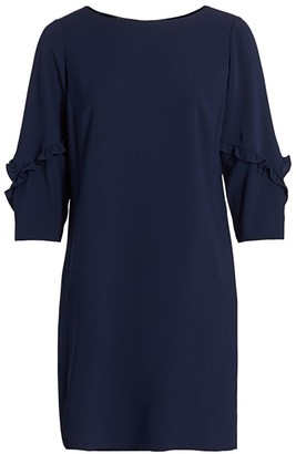 Lafayette 148 New York, Plus Size Abigail Ruffle-Sleeve Shift Dress