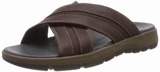 Clarks Men's Brixby Cross Ankle Strap Sandals