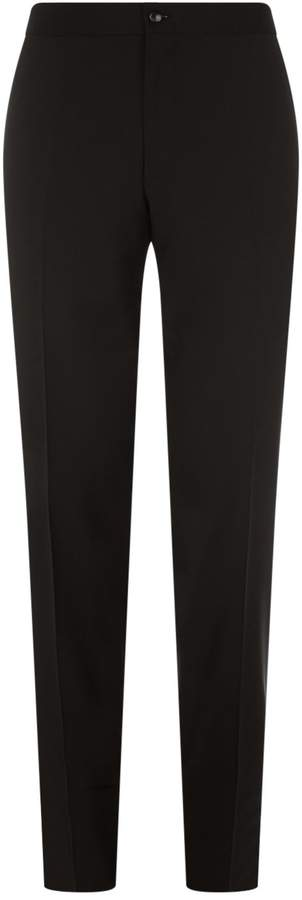 Canali Eve Wool-Mohair Tailored Trousers