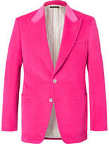 Tom Ford Pink Shelton Slim-Fit Velvet Blazer