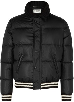 Saint Laurent Black quilted shell jacket