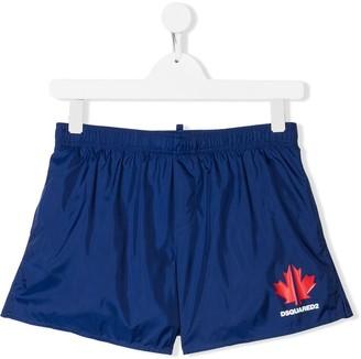 DSQUARED2 TEEN logo print swim shorts