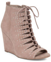 Jessica Simpson Barlett Suede Caged Wedge Booties