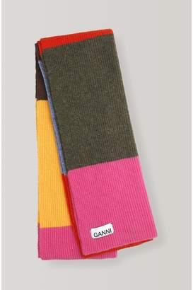 Ganni Knit Scarf - Rainbow