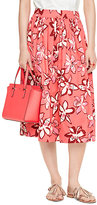 Kate Spade Tiger lily cotton skirt